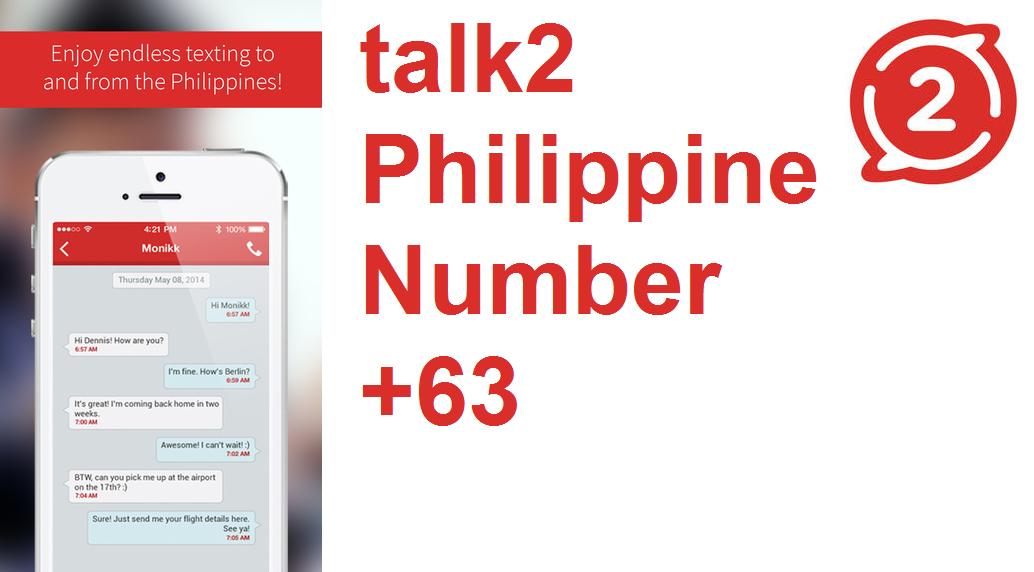 دانلود برنامه ساخت شماره مجازی فیلیپین برای اندروید Talk2