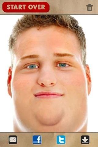 دانلود نرم افزار چاق کردن صورت برای اندروید FatBooth