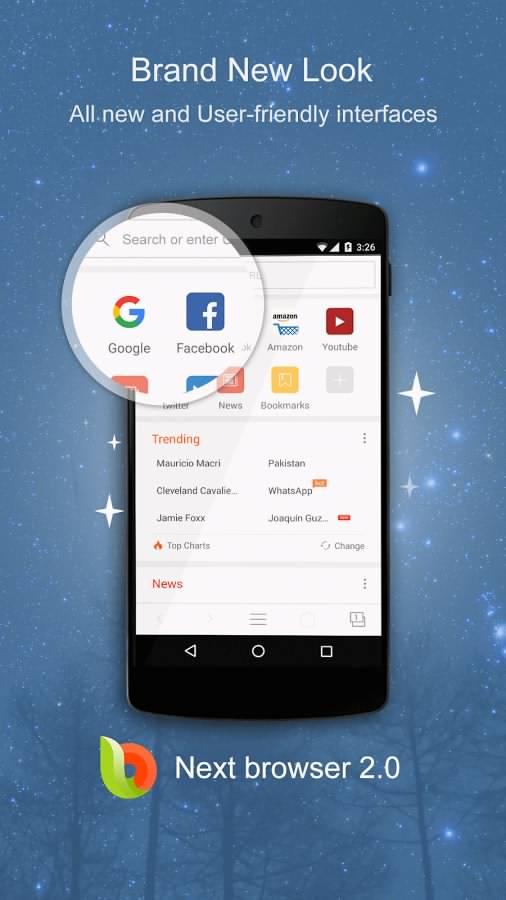 دانلود مرورگر محبوب نکس برای اندروید Next Browser - Fast & Private