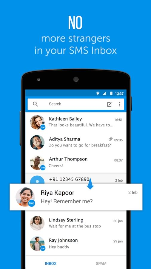 Truemessenger - SMS Block Spam0