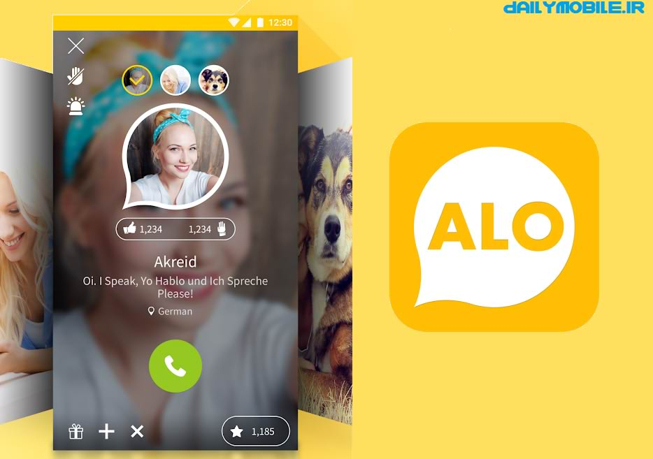 دانلود برنامه تماس تصویری در اندروید ALO - Social Video Chat