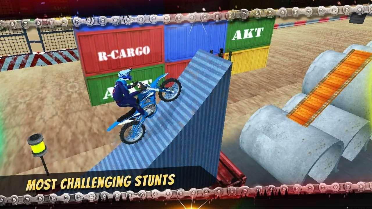 بازی موتور سواری پرش از موانع برای اندروید Bike Racing Mania