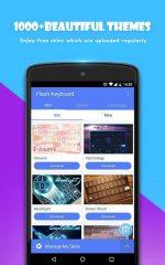 دانلود کیبورد فوق العاده برای اندروید Flash Keyboard - Emojis & More