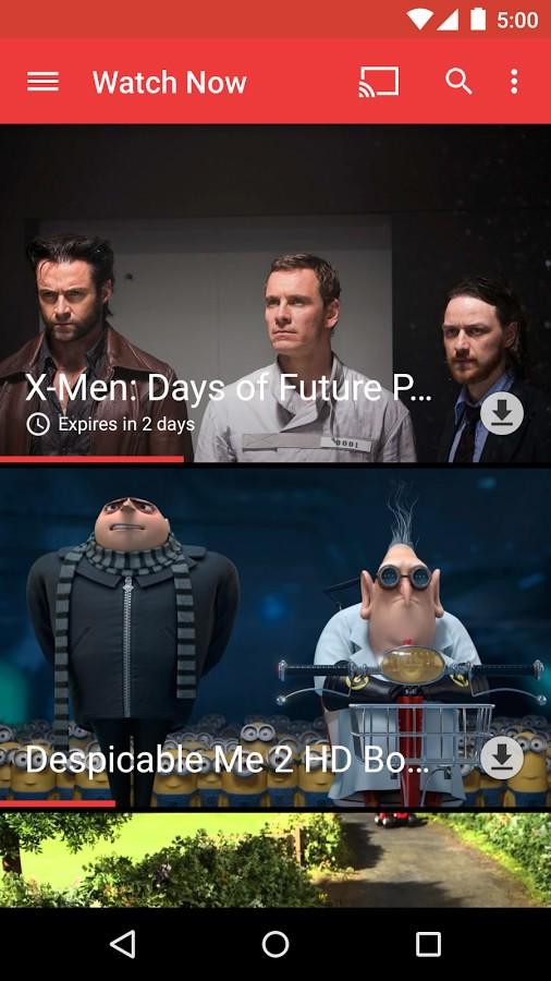 نرم افزار نمایش فیلم های آنلاین برای اندروید Google Play Movies & TV