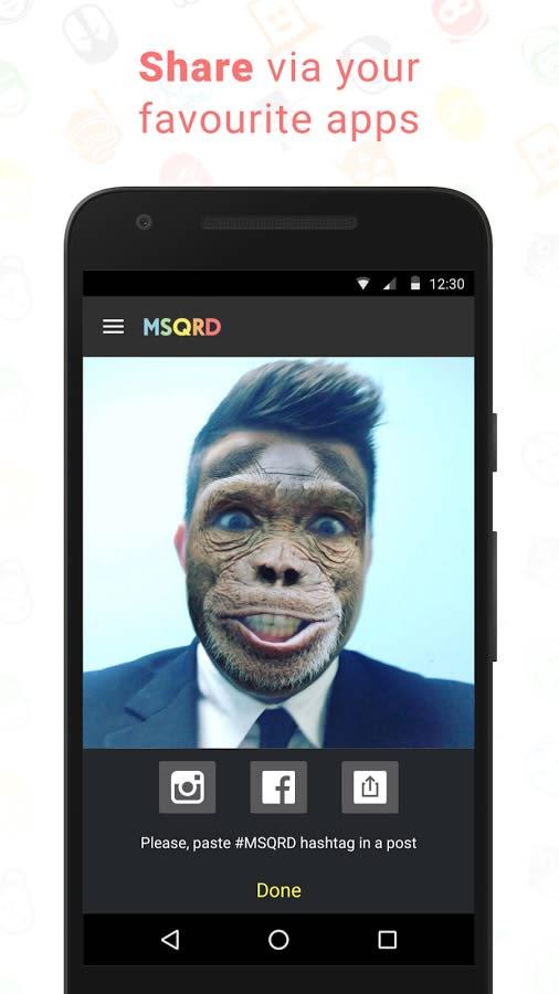 برنامه فیلترهای زنده دوربین برای اندروید MSQRD