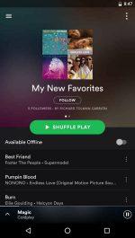 نرم افزار پخش آنلاین موسقی اندروید Spotify Music