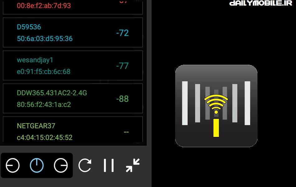 دانلود اپلیکیشن آنالیز شبکه وایفای در اندروید WiFi Channel Analyzer