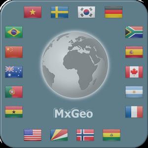 برنامه نقشه و اطلس جهان برای اندروید World atlas & map MxGeo Pro