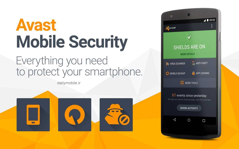دانلود آنتی ویروس قدرتمند avast اندروید Mobile Security & Antivirus