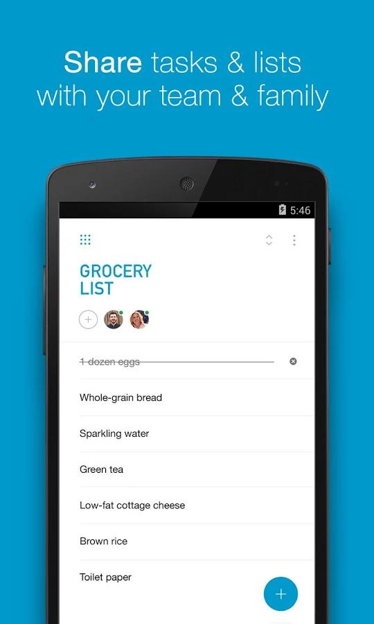 نرم افزار لیست کارهای روزانه اندروید To-do list & Agenda by Any.do