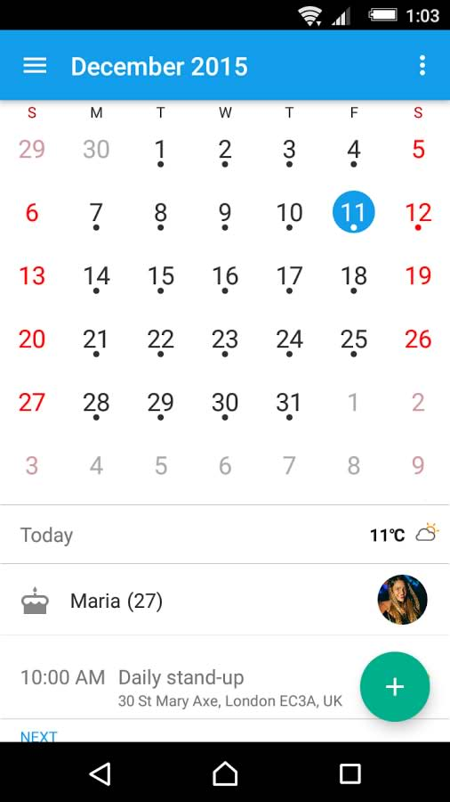 دانلود برنامه تقویم اکسپریا برای اندروید Xperia™ Calendar