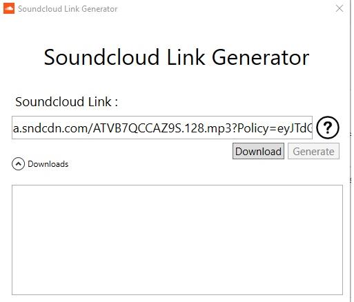 دانلود از ساوند کلاد با لینک مستقیم Soundcloud Link Generator