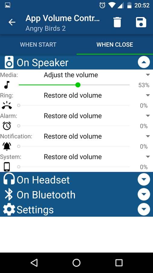 اپلیکیشن کنترل صدای دستگاه های اندروید App Volume Control Pro