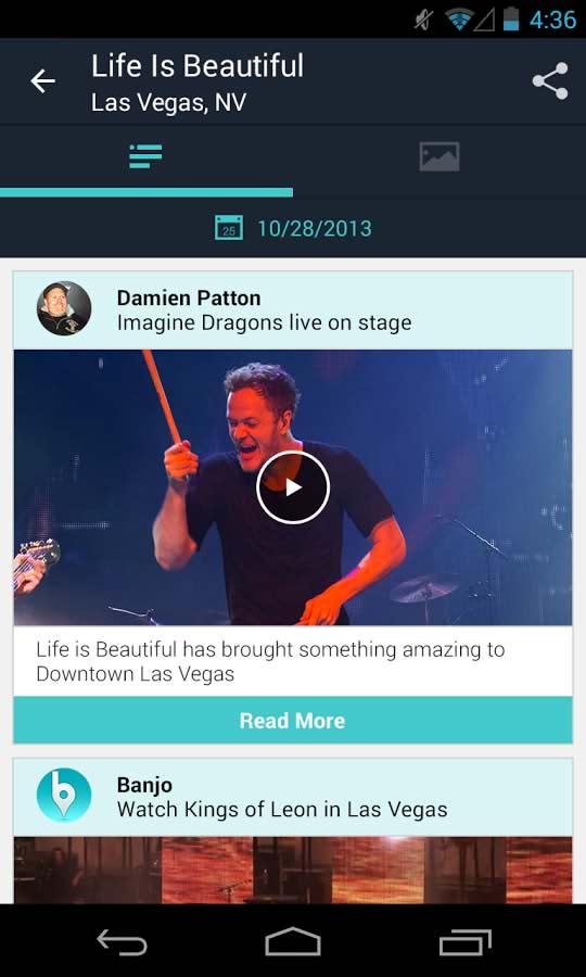 دانلود نرم افزار خبرخوان بنجو برای اندروید Banjo android app