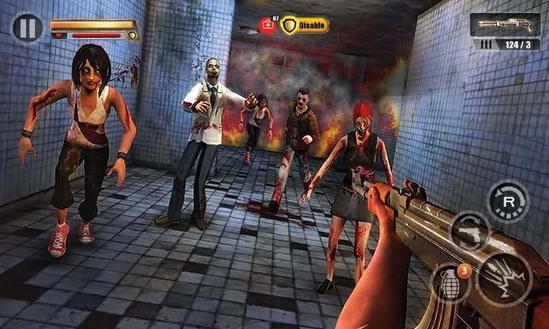 نسخه مود شده بازی خانه آلوده به زامبی اندروید Infected House: Zombie Shooter