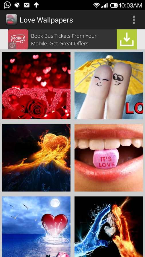 دانلود برنامه تصاویر پس زمینه عاشقانه برای اندروید Love Images