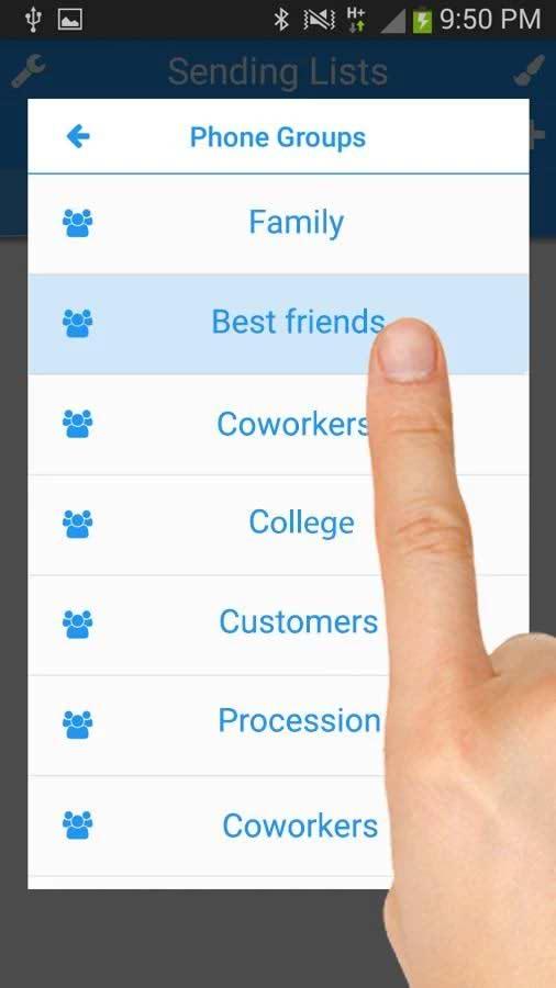 برنامه ارسال پیامک گروهی در اندروید Multi SMS & Group SMS PRO