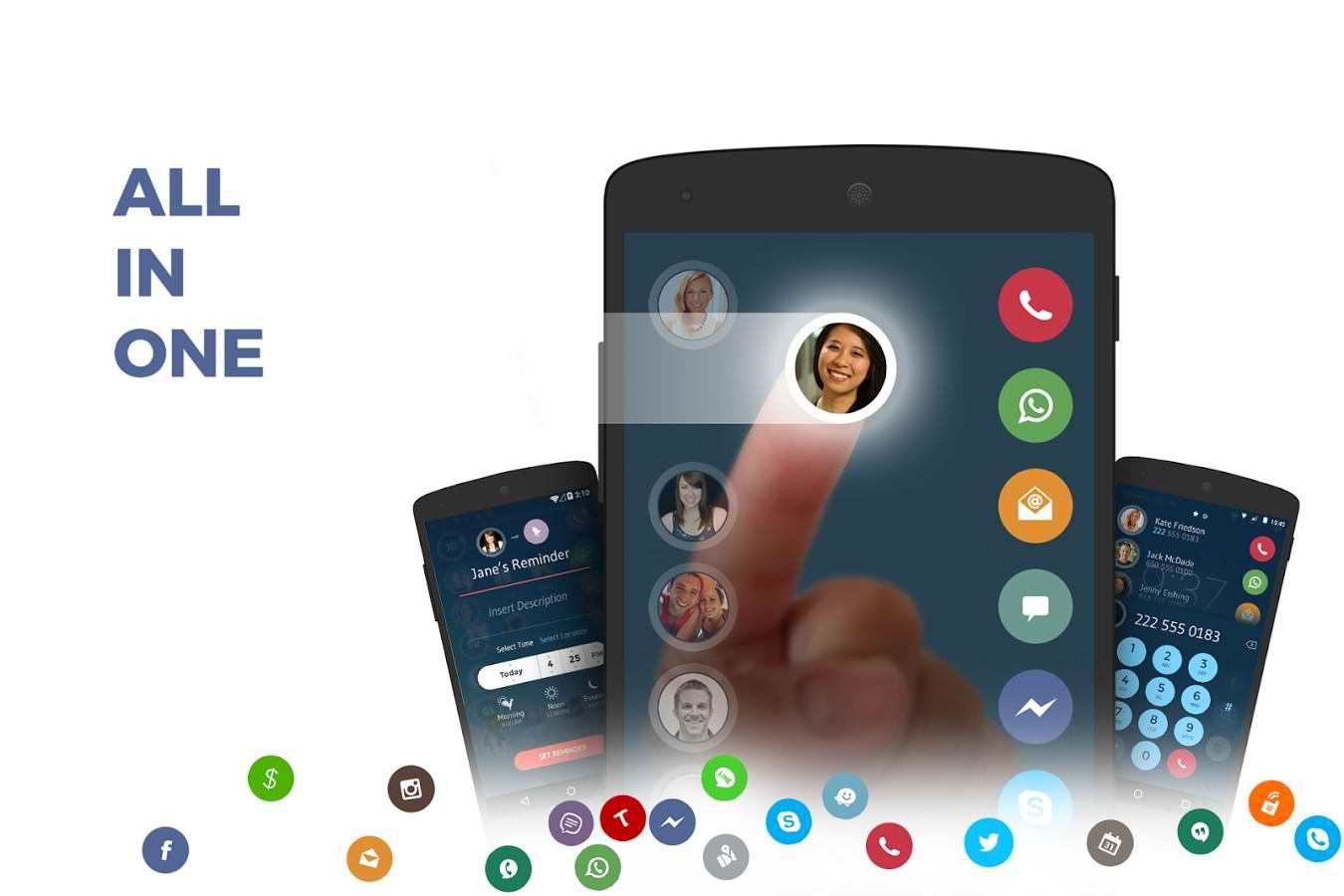 دانلود برنامه مدیریت تماس اندروید Contacts, Phone Dialer & Caller ID: drupe