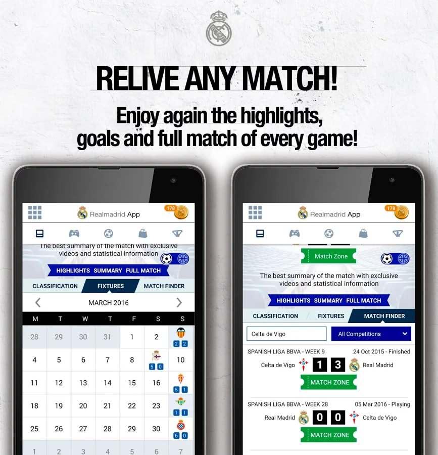 برنامه اندروید باشگاه رئال مادرید Real Madrid App