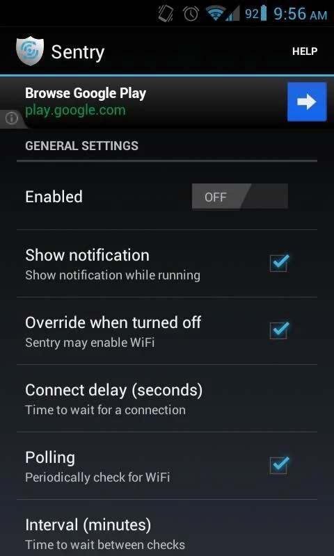 دانلود نرم افزار کنترل خودکار وایفای اندروید Sentry APK