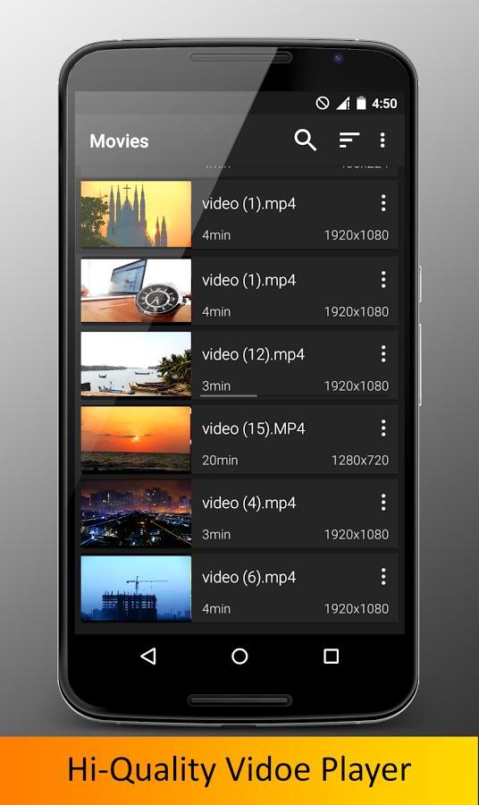 برنامه پخش ویدیوهای اچ دی اندروید Video Player HD
