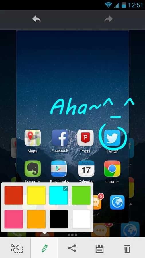 برنامه گرفتن اسکرین شات از صفحه اندروید OK Screenshot