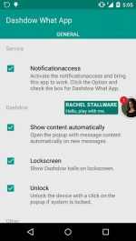 برنامه نمایش پیام های واتساپ Dashdow What App