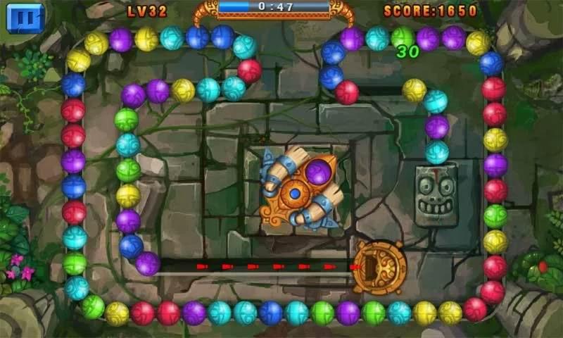 دانلود بازی قرار دادن توپ های همرنگ کنار هم Marble Legend