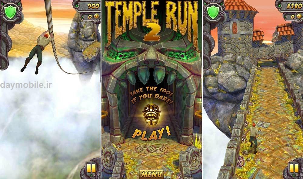دانلود بازی زیبا و هیجان انگیز فرار از معبد برای اندروید Temple Run 2