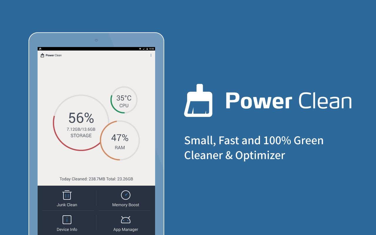 دانلود نرم افزار پاک کننده و بهینه ساز اندروید Power Clean – Optimize Cleaner