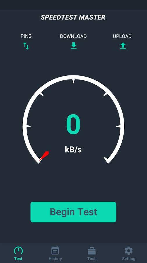 دانلود برنامه تست سرعت اینترنت با اندروید Internet Bandwidth Speed Test