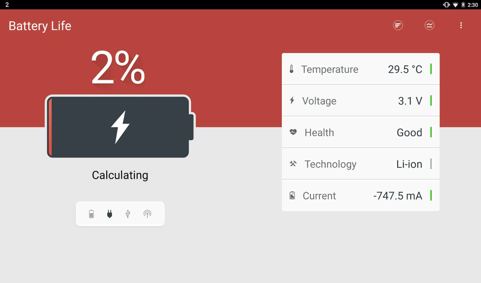 دانلود برنامه مدیریت باتری دستگاه های اندروید Next Battery