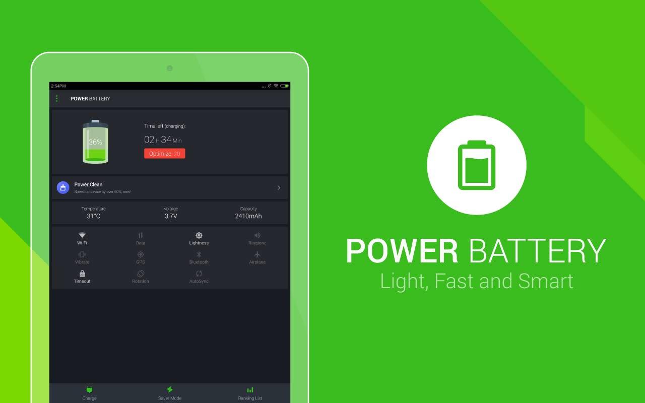 نرم افزار کاهش مصرف باطری های اندروید Power Battery - Battery Saver