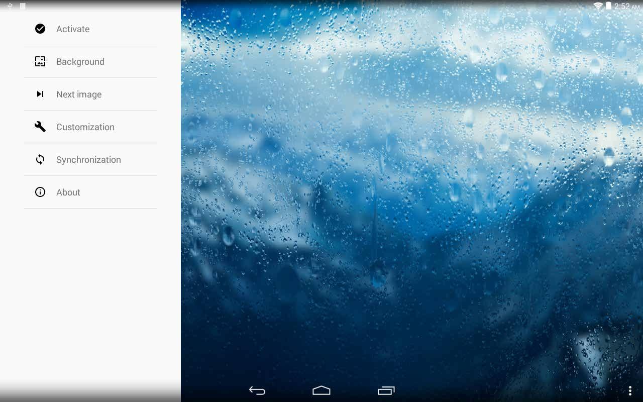 دانلود لایو والپبر زنده بارش باران برای اندروید Rainpaper