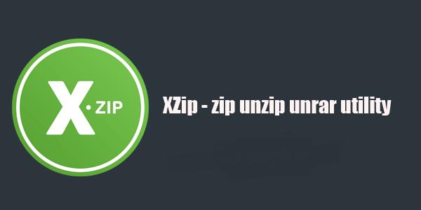 ساخت و استخراج فایل های فشرده در اندروید XZip - zip unzip unrar utility