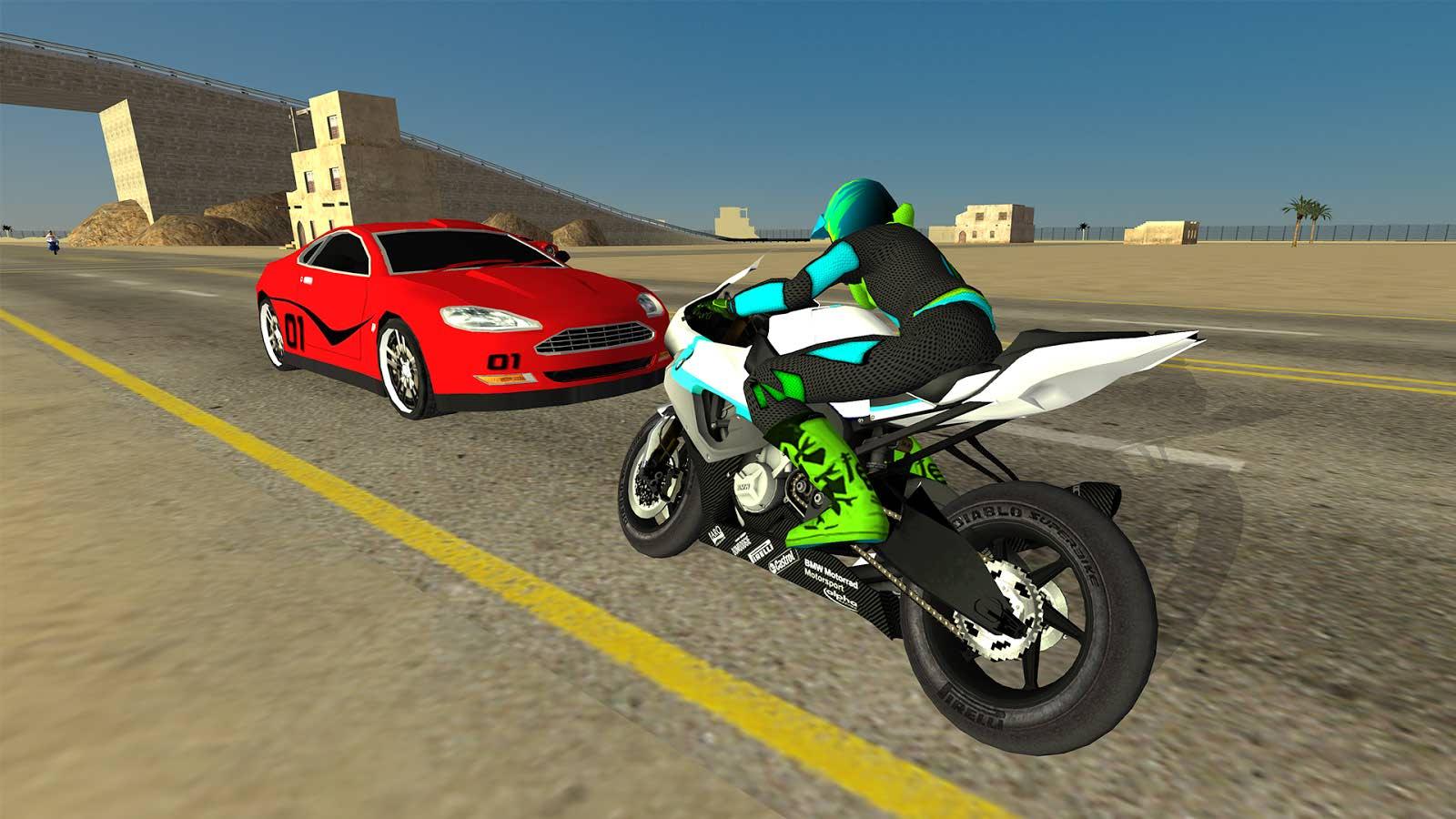 دانلود بازی فوق العاده موتور سواری برای اندروید Motorbike Driving Simulator 3D