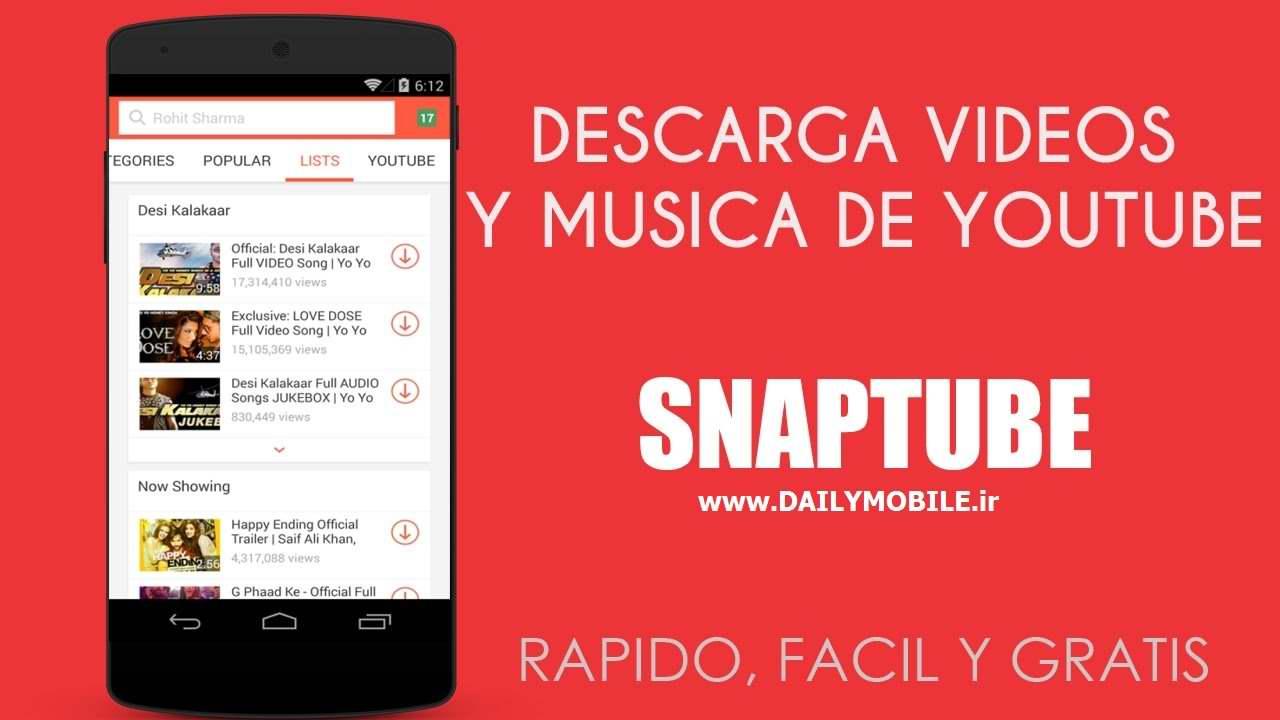 نرم افزار دانلود ویدیو از یوتیوب برای اندروید SnapTube Vip Video and Music Downloader