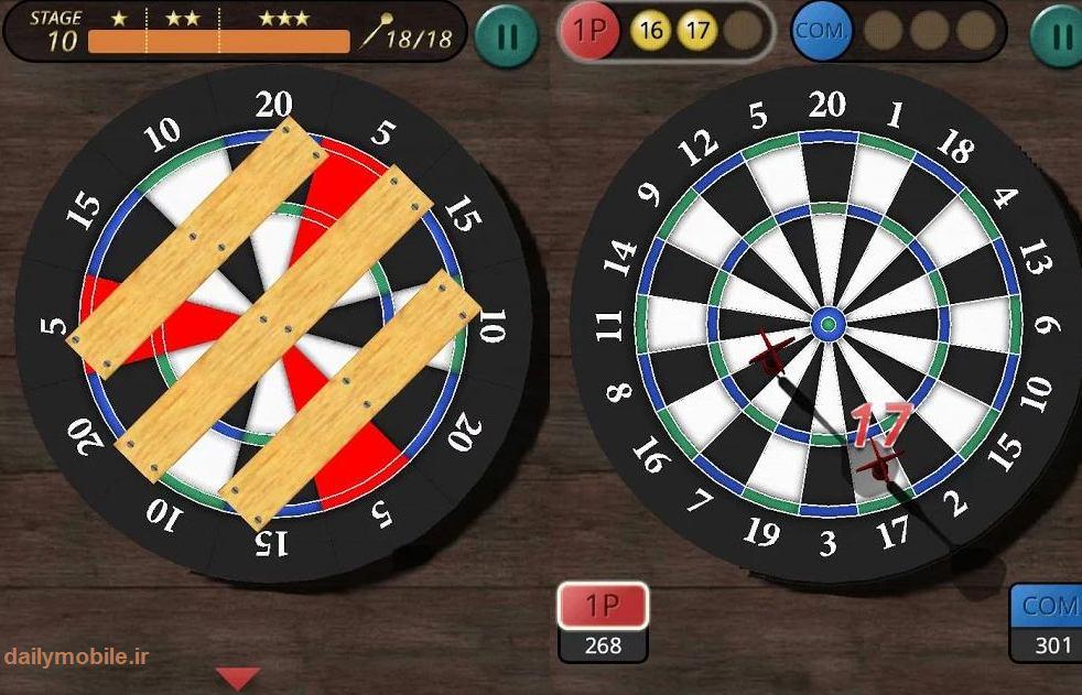 دانلود بازی پرتاب دارک برای اندروید Darts King