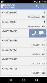 برنامه اندروید مسدود كردن تماس هاي دريافتي توسط Root Call Blocker Pro