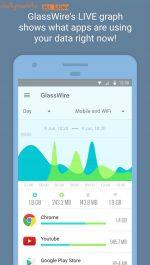 دانلود نرم افزار حرفه ای مدیریت اینترنت اندروید GlassWire – Data Usage Privacy