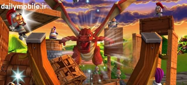 دانلود بازی بسیار زیبای پادشاه منجنیق برای اندروید Catapult King