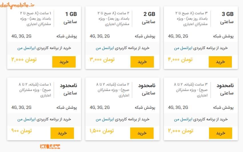 بسته های اینترنت نامحدود همراه اول و ایرانسل
