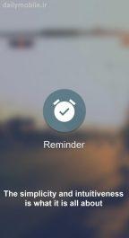 دانلود برنامه یاددآوری فعالیت های مهم روزانه برای اندروید Reminder Pro