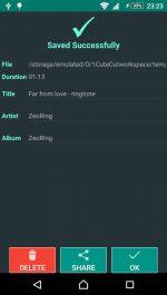 دانلود برنامه ساخت آهنگ زنگ موبایل برای اندروید ZeoRing Ringtone Ed. (Ad-Free)