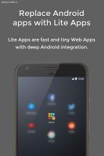 دانلود برنامه اندروید ساخت نسخه لایت از برنامه ها Hermit • Lite Apps Browser