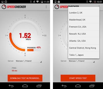 نرم افزار اندازه گیری سرعت اینترنت Internet Speed Test 3G,4G,Wifi