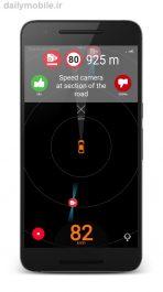 دانلود برنامه آگاهی از دوربین های کنترل سرعت یا پلیس برای اندروید Speed camera radar