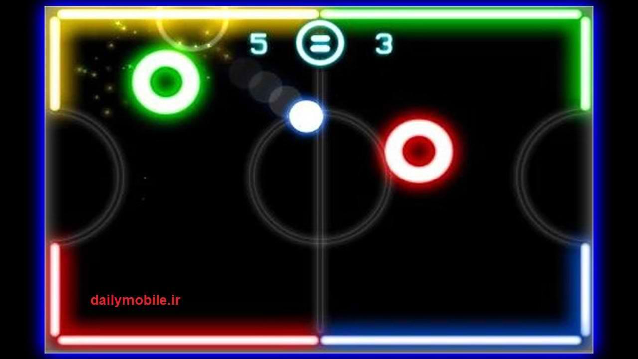 دانلود بازی اندروید درخشش هاکی Glow Hockey