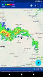 دانلود برنامه اندروید هشدار از زمان بارش برای اندروید Rain Alarm Pro