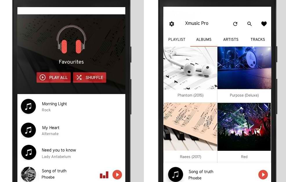 دانلود موزیک پلیر کم حجم و زیبا برای اندروید XMusic Pro